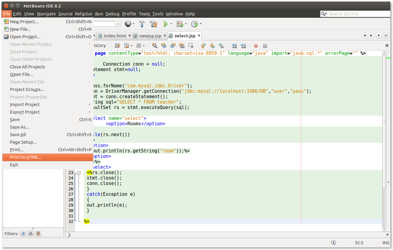 A New Window Will Appear Select Print To Clipboard And Other Checkbox Option Like Line Numbers In Code Then Click OK