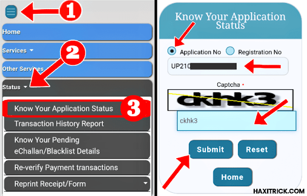 Know Your RC Application Status