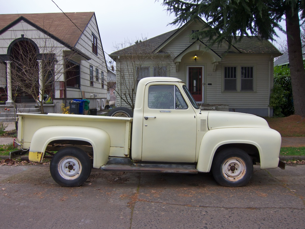 The Street Peep 1955 Ford F100 White 4x4 Portland Or Second Gen Wiki Photo Jack Murray