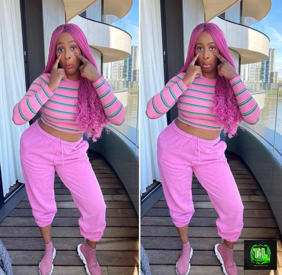 DJ-Cuppy-shades-her-ex-boyfriends-as-she-steps-out-in-pink-friday-imprint-Teelamford