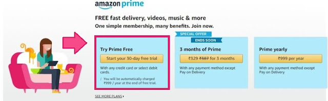 Amazon Prime One Month Free Subscription Trick