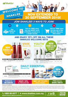 shaklee free member; vivix promo; daily essential shaklee; youth skin care promo; shaklee sandakan; shaklee bintulu; shaklee miri