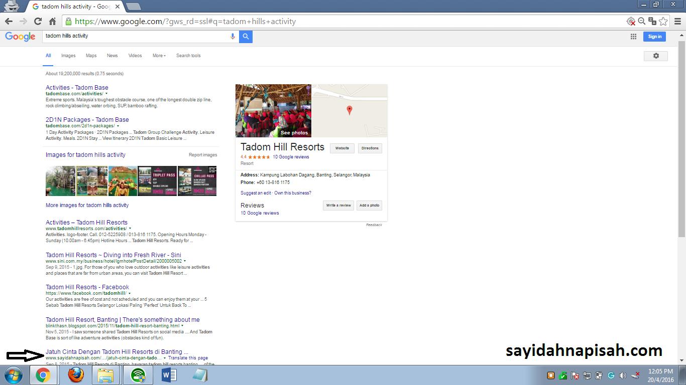 Top 15 Entri sayidahnapisahdotcom Yang Berada Di First Page Google