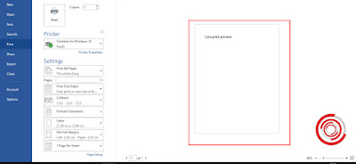 3. Maka nantinya akan muncul tampilan dokumen yang tampil seperti sudah di print atau di cetak