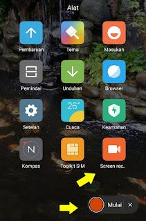 Fungsi Fitur Screen Recorder Di hp Xiaomi
