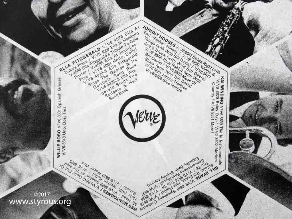 The Styrous 174 Viewfinder Verve Records The Inner Sleeve