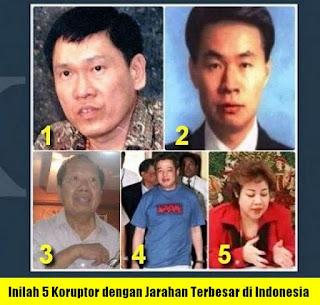 Inilah 5 Koruptor Dengan Jarahan Terbesar di Indonesia. Maaf, Adakah Yang Kadrun?