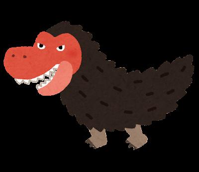 毛むくじゃらのティラノサウルスのイラスト