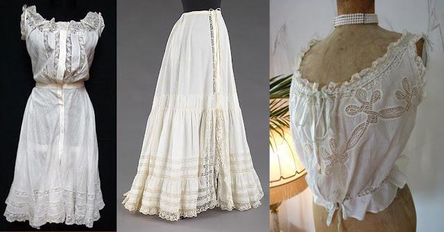 roupas de baixo vitorianas