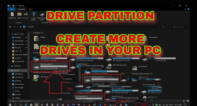 How to Create and Modify Disk Partition In Windows 10 | 9Technoadda