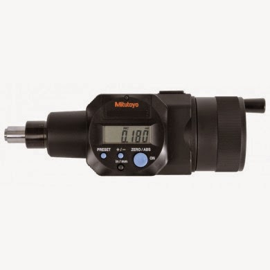 Digimatic micrometer measuring head for toolmaker's or measuring microscopes.