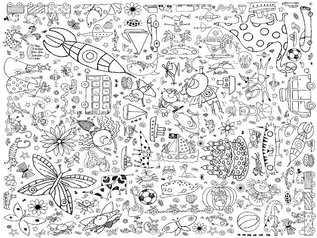 Large Coloring Mat for Kids