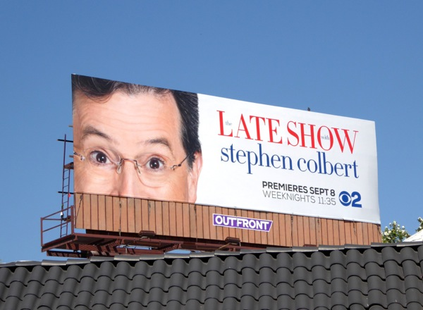 Late Show Stephen Colbert CBS series billboard