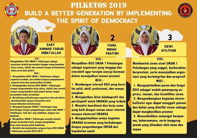SMANSA Berdemokrasi Melalui PILKETOS 2019