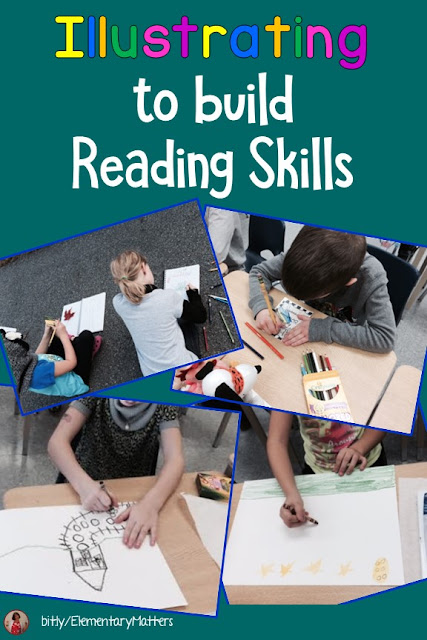 Illustrating to Build Reading Skills: Visualization is an important skill for reading and illustrating is one of the best ways I know to encourage visualization. This post has several suggestions for connecting reading skills with illustrating.