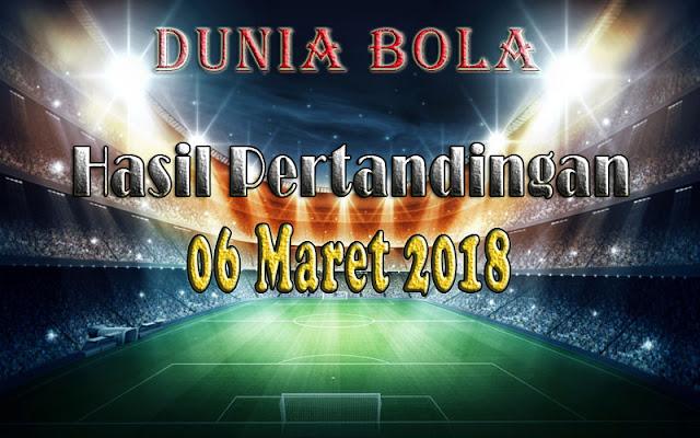 Hasil Pertandingan Sepak Bola Tanggal 06 Maret 2018