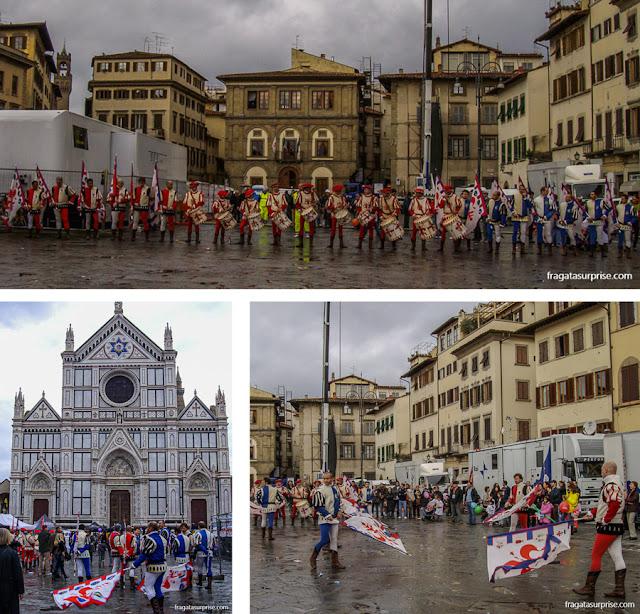 Ensaio para a Festa degli Omaggi em Santa Croce, Florença