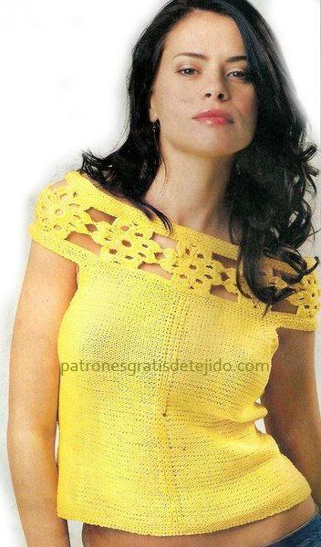 polera-amarilla-palillos-crochet