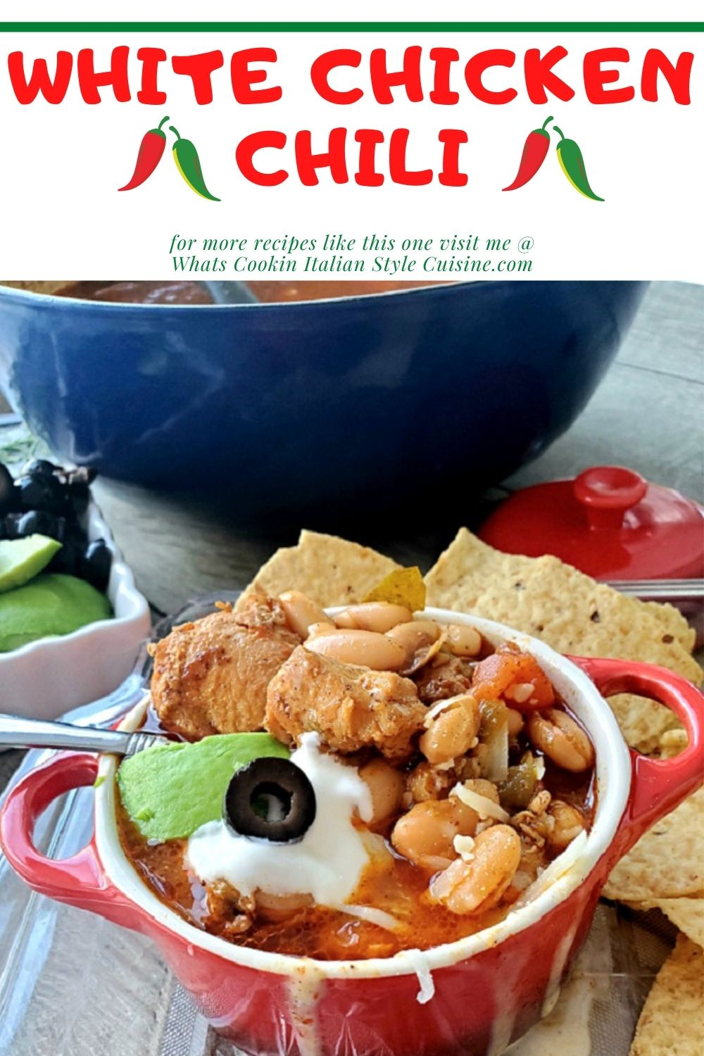 this is a pin for later how to make white chicken chili