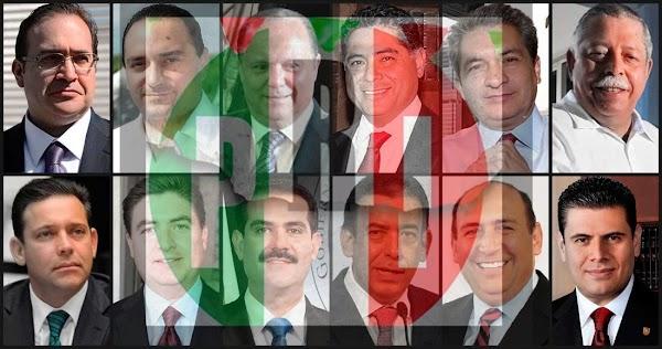 """Pese a tener 13 exgobernadores prófugos, presos o acusados, PRI llama """"corrupto"""" a AMLO y exige renuncia"""