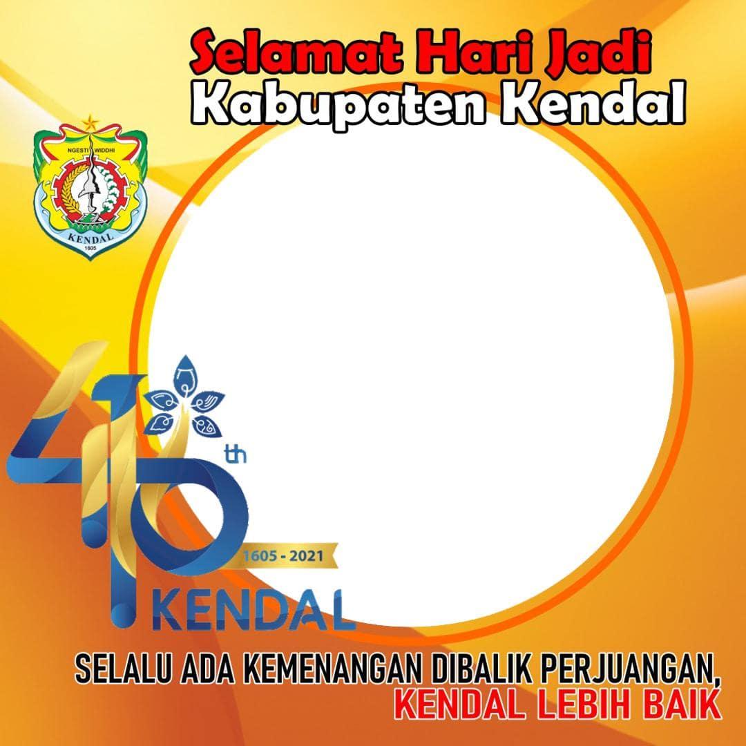 Template Desain Frame Bingkai Twibbon Ulang Tahun ke-416 Kabupaten Kendal Tahun 2021