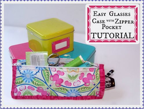 Easy Glasses Case with Zipper Pocket