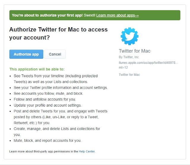 Authorize app untuk mengijinkan aplikasi