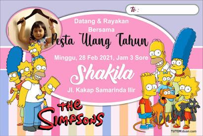 Desain Undangan Ultah Kartun The Simpsons CDR