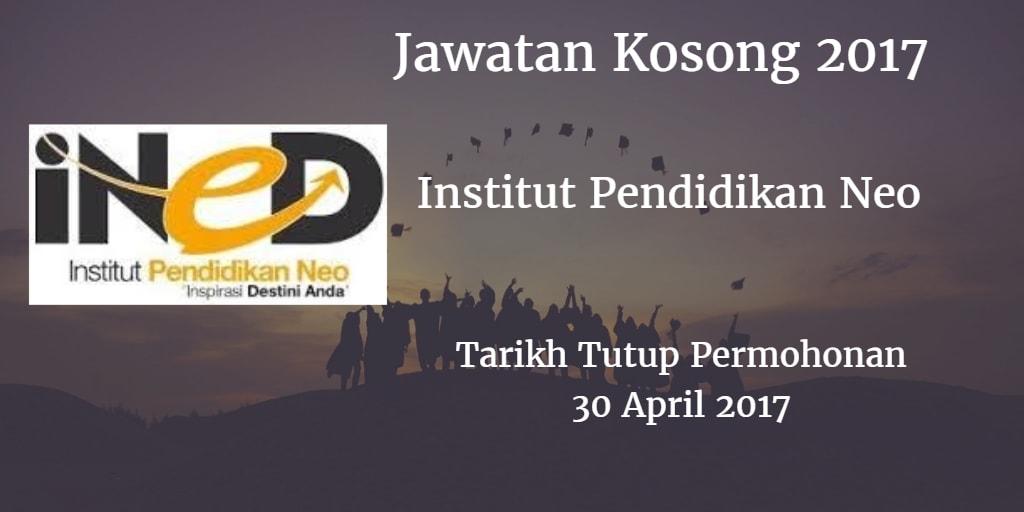 Jawatan Kosong iNED 30 April 2017