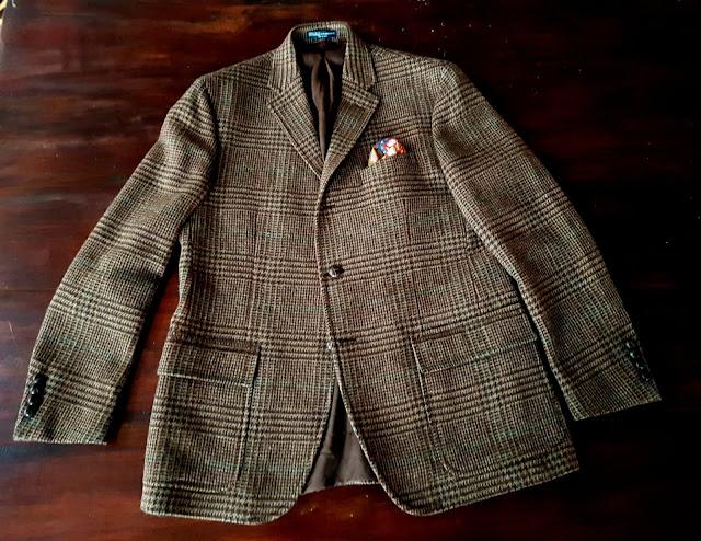 Ralph Lauren Glen brown Check Tweed jacket