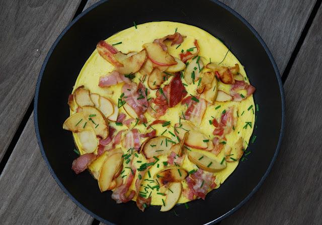 Omelette pommes lard