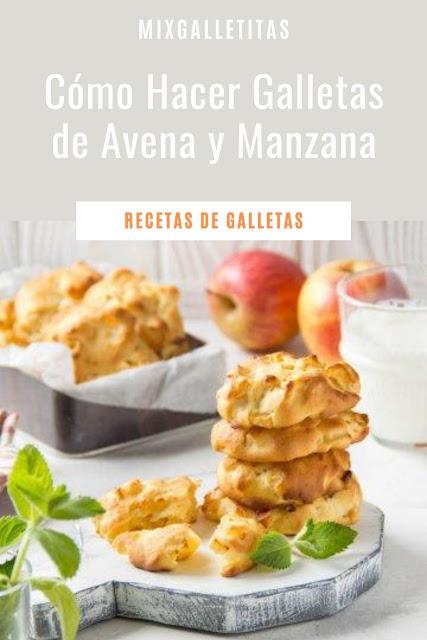 Cómo hacer galletas de avena y manzana