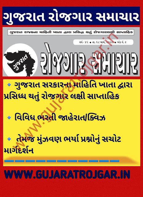 Gujarat Rojgar Samachar Weekl pdf magaizne
