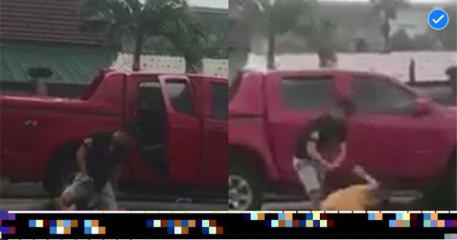 Clip người đàn ông túm tóc đánh đập, dùng kéo dọa đâm vợ cũ ngay giữa sân bệnh viện gây bức xúc