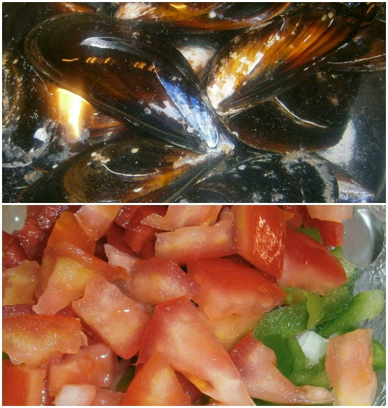 Mejillones con Vinagreta de Tomate.