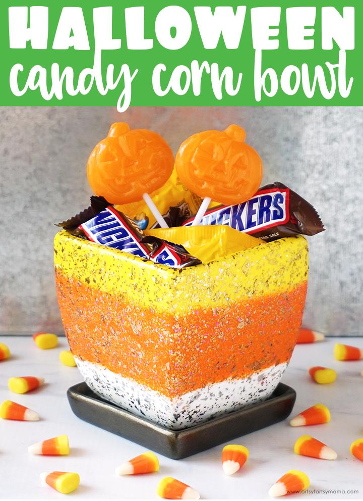 Halloween Candy Corn Treat Bowl