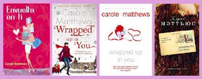 portadas de la novela romántica contemporánea Envuelta en ti, de Carole Matthews
