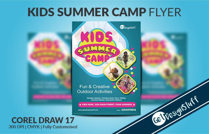 Kids Summer Camp A4 Flyer Template