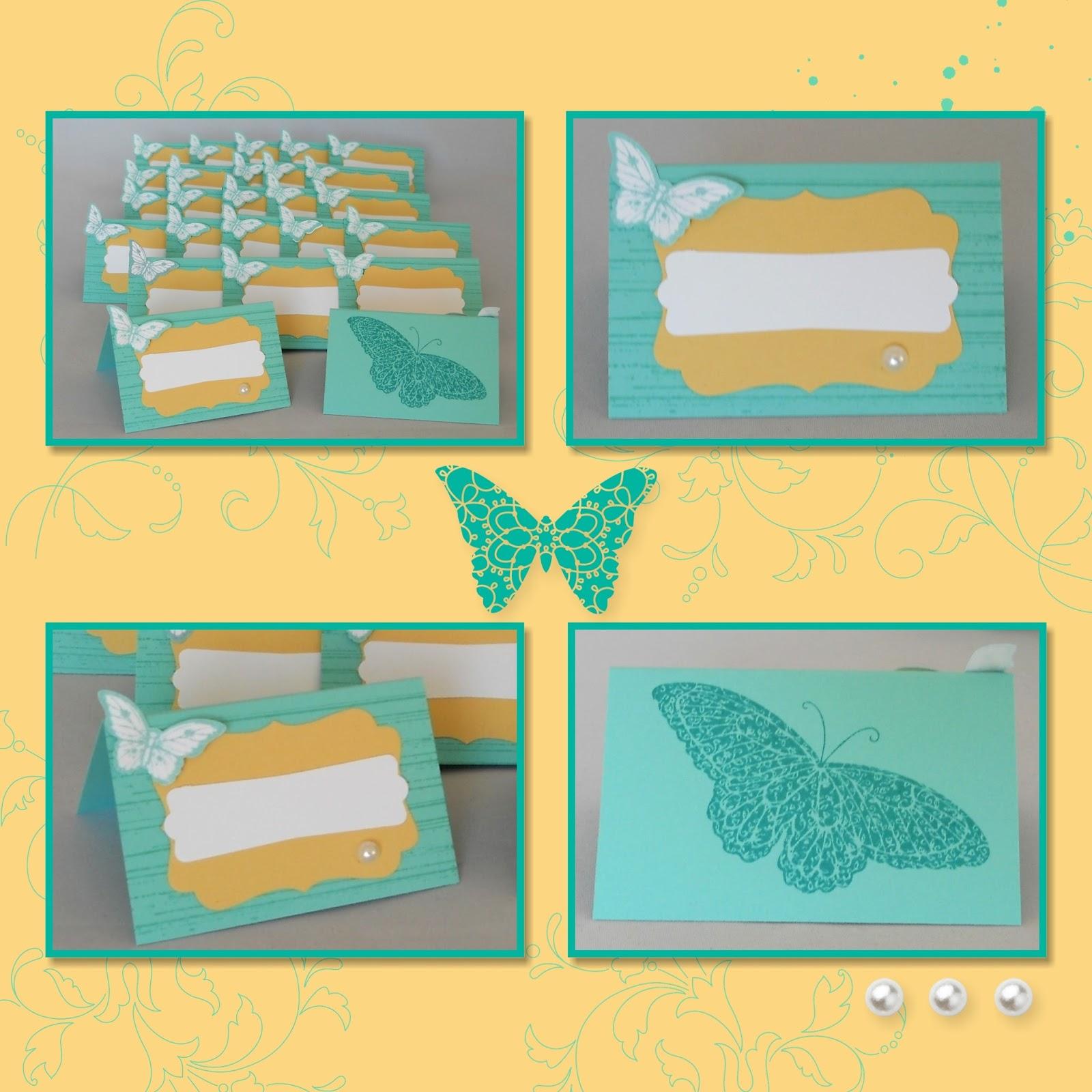 l ftchen basteln mit papier und stempeln tischkarten zum 85 geburtstag. Black Bedroom Furniture Sets. Home Design Ideas