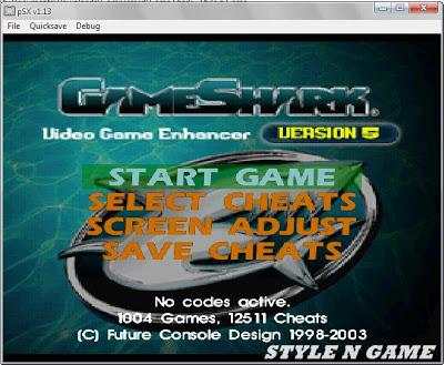 Download GameShark PS1 / PSX Untuk PC & Android