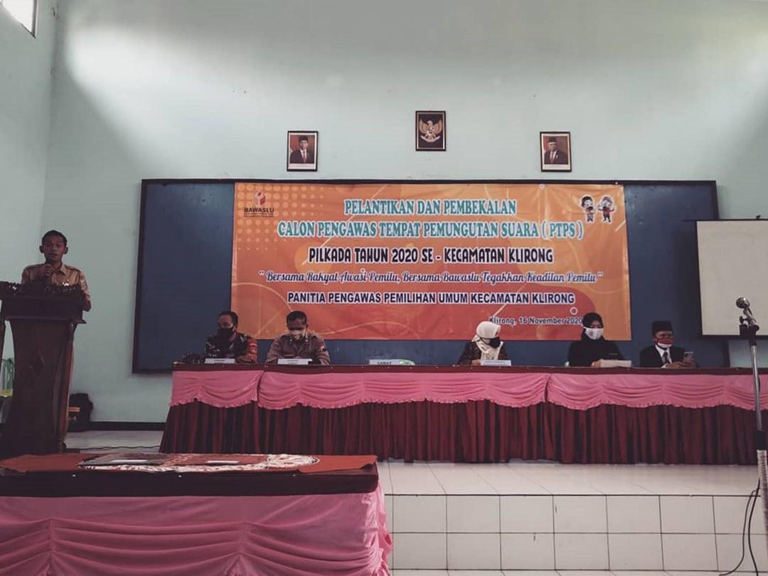 Jelang Pilbup Kebumen, 147 Pengawas TPS Kecamatan Klirong Dilantik