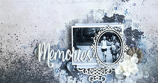 """Memories"" Layout for Mixed Media and Art Challenge"