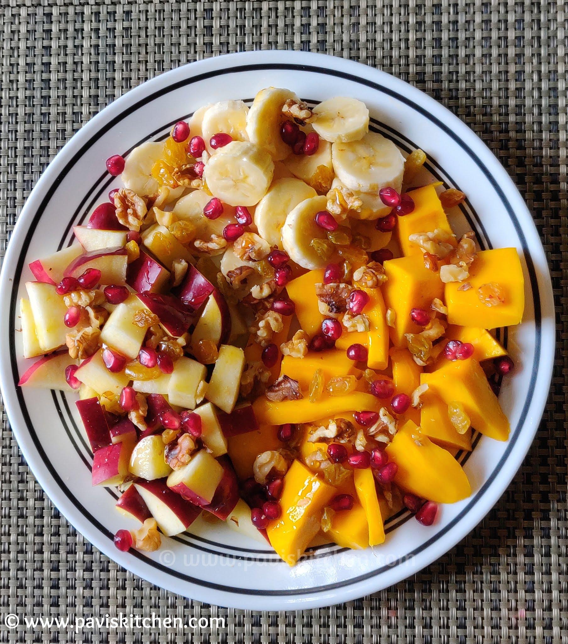 Fruit salad recipe | Indian fruit salad | how to make fruit salad Indian style