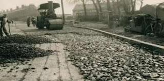 Penggunaan Slag steel sebagai agregat perkerasan pada  jalan Aizlewood di Sheffield, Inggris tahun 1950