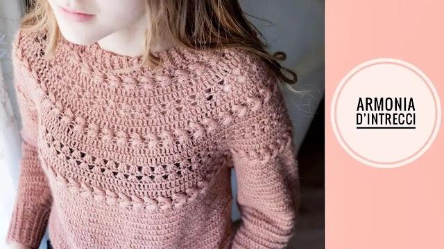 Tutorial Blusa Armonía de Trenzas a Crochet