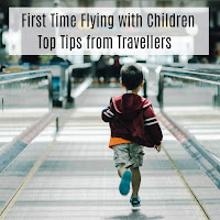 First Time Flying with Children Child running on an airport walkway.