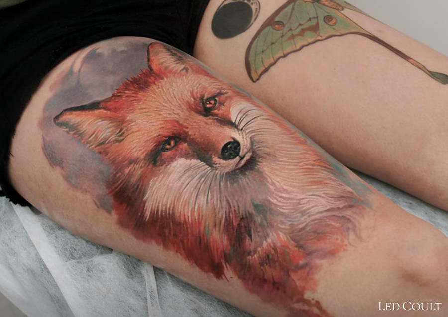 22 Gorgeous Thigh Tattoos For Girls