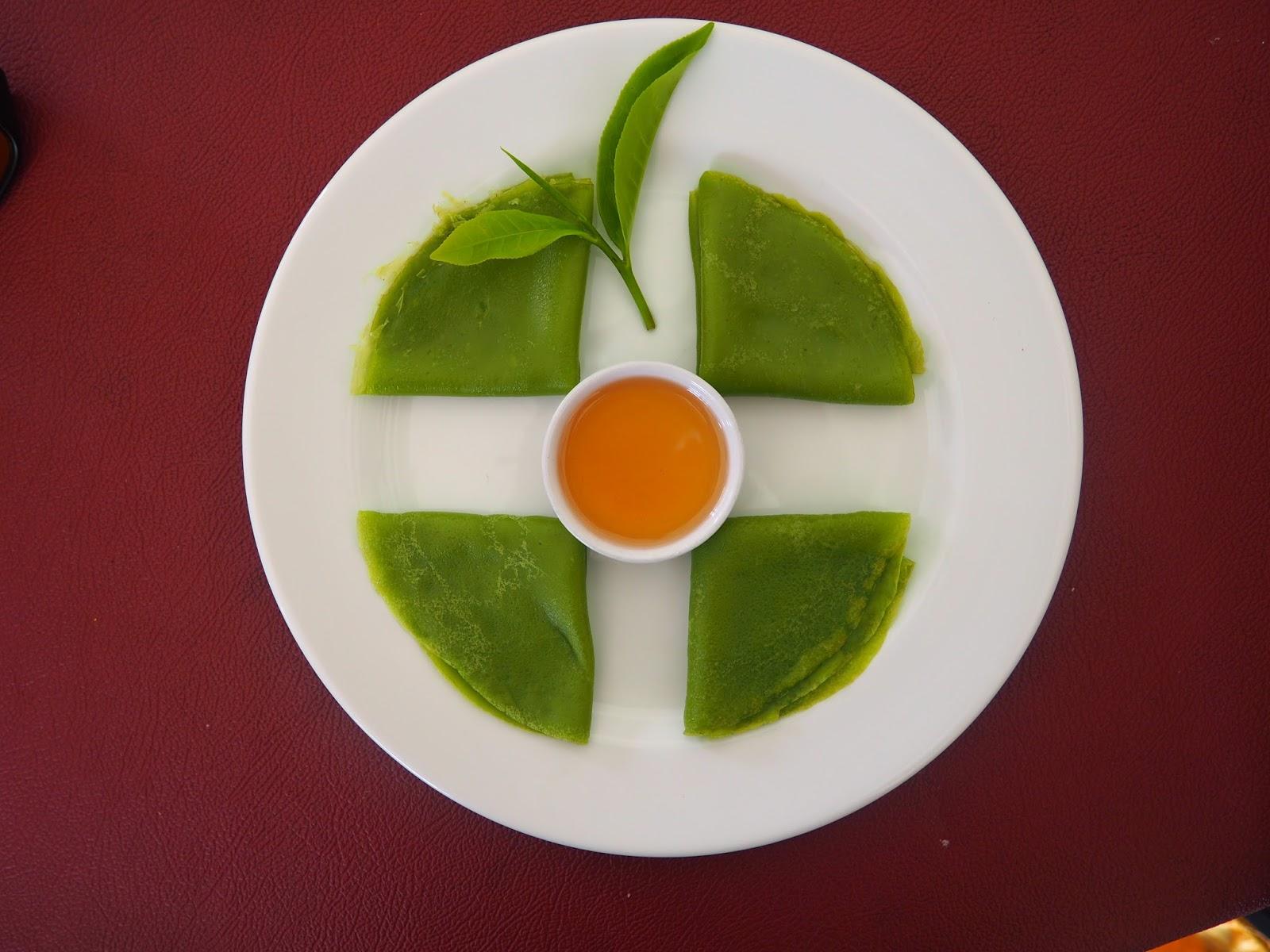 crepe green pancakes borneo malaysia