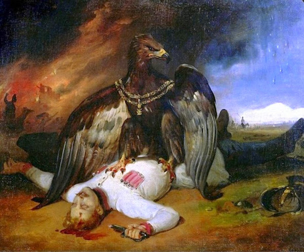 Horace Vernet, Polish Prometheus, Macabre Art, Macabre Paintings, Horror Paintings, Freak Art, Freak Paintings, Horror Picture, Terror Pictures
