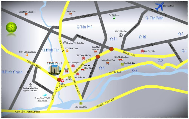 Vị trí trọng điểm căn hộ Vision Bình Tân